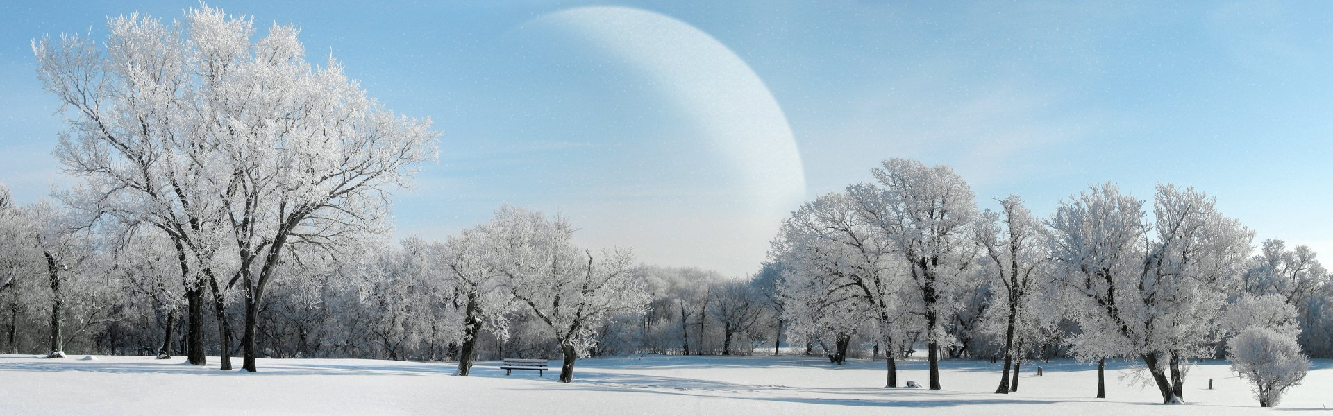 Multi Monitor - Earth  Planet Landscape Winter Snow Wallpaper