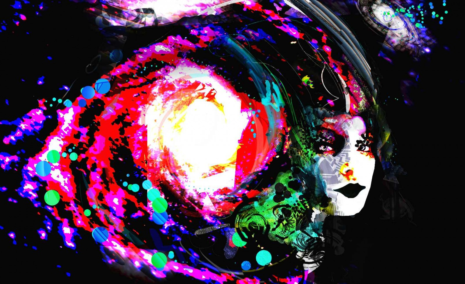 Psychedelic wallpaper and background 1600x979 id 227233 for Cool wallpaper designs for walls