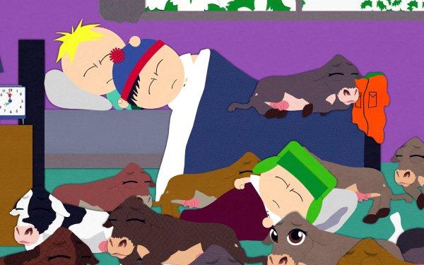TV Show South Park Butters Stotch Stan Marsh Kyle Broflovski Bed Sleeping HD Wallpaper | Background Image