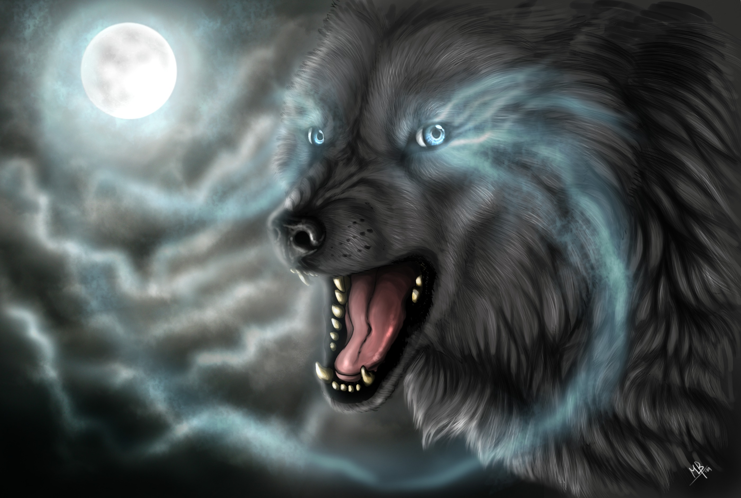 Full moon wolf full hd wallpaper and background image - Animal black background wallpaper ...