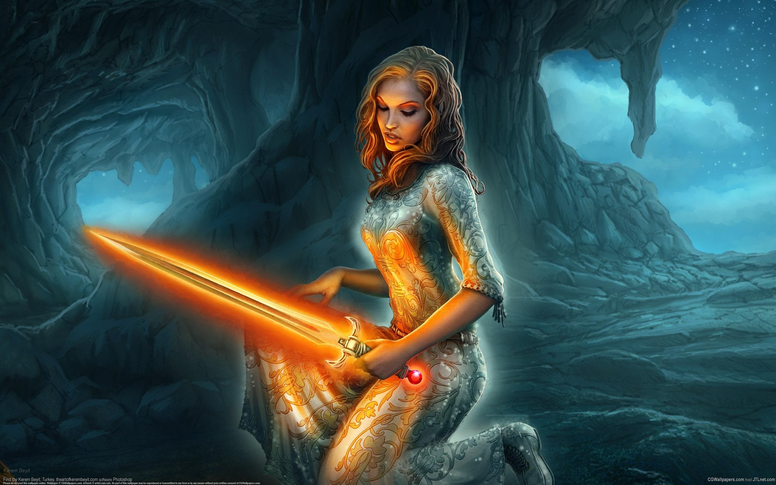 Lady Of The Lake Holding Excalibur Full Hd Wallpaper And -7619