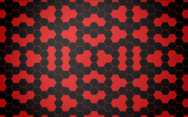 Abstract Pattern Black Hexagon Red HD Wallpaper | Background Image