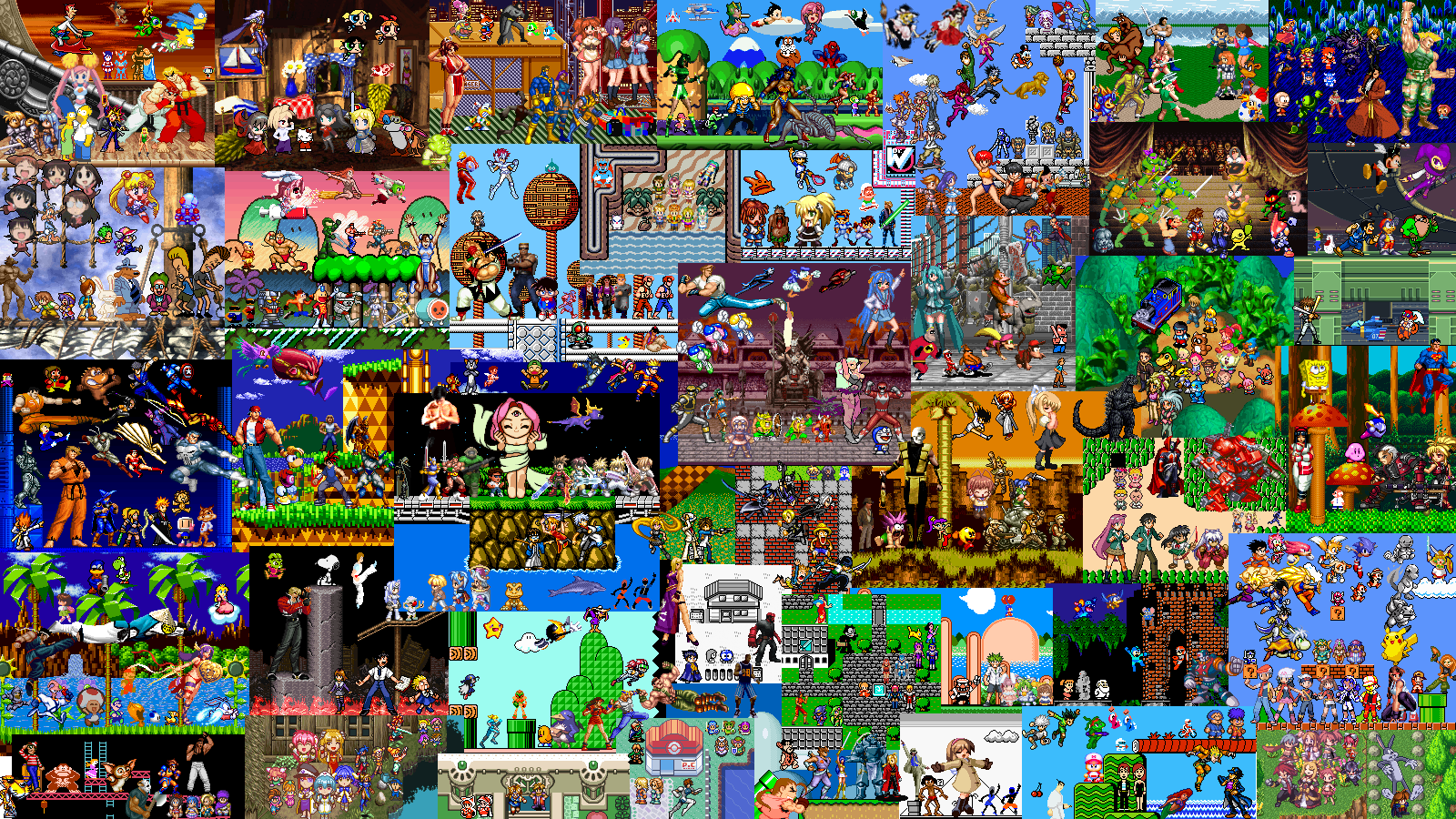 Video game covers collage – acgk