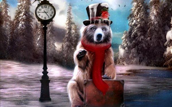 Animal Artistic Bear HD Wallpaper | Background Image
