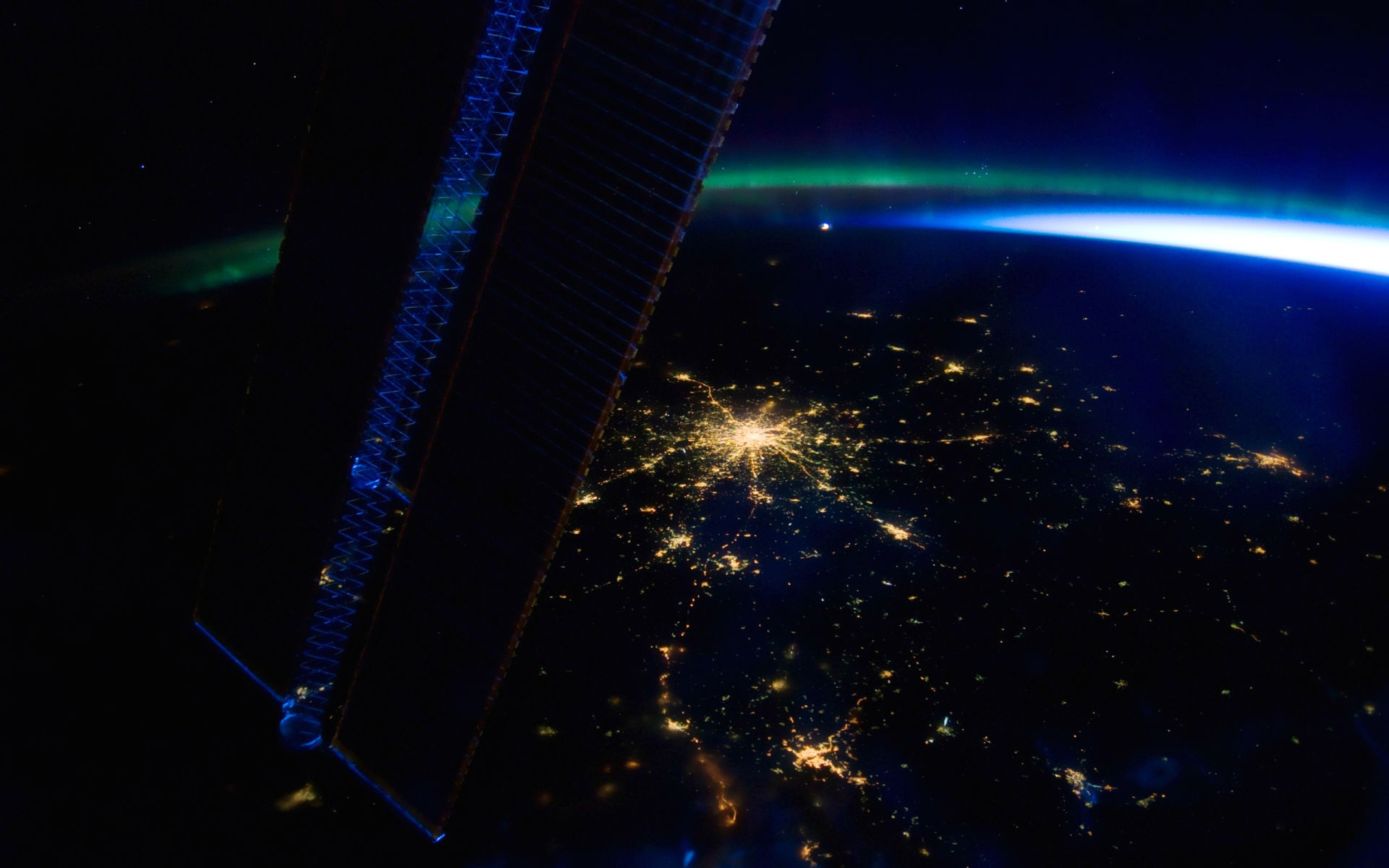 Wallpaper Earth Above Space Hd Space 6408: Moscow From The I.S.S. Full HD Wallpaper And Background