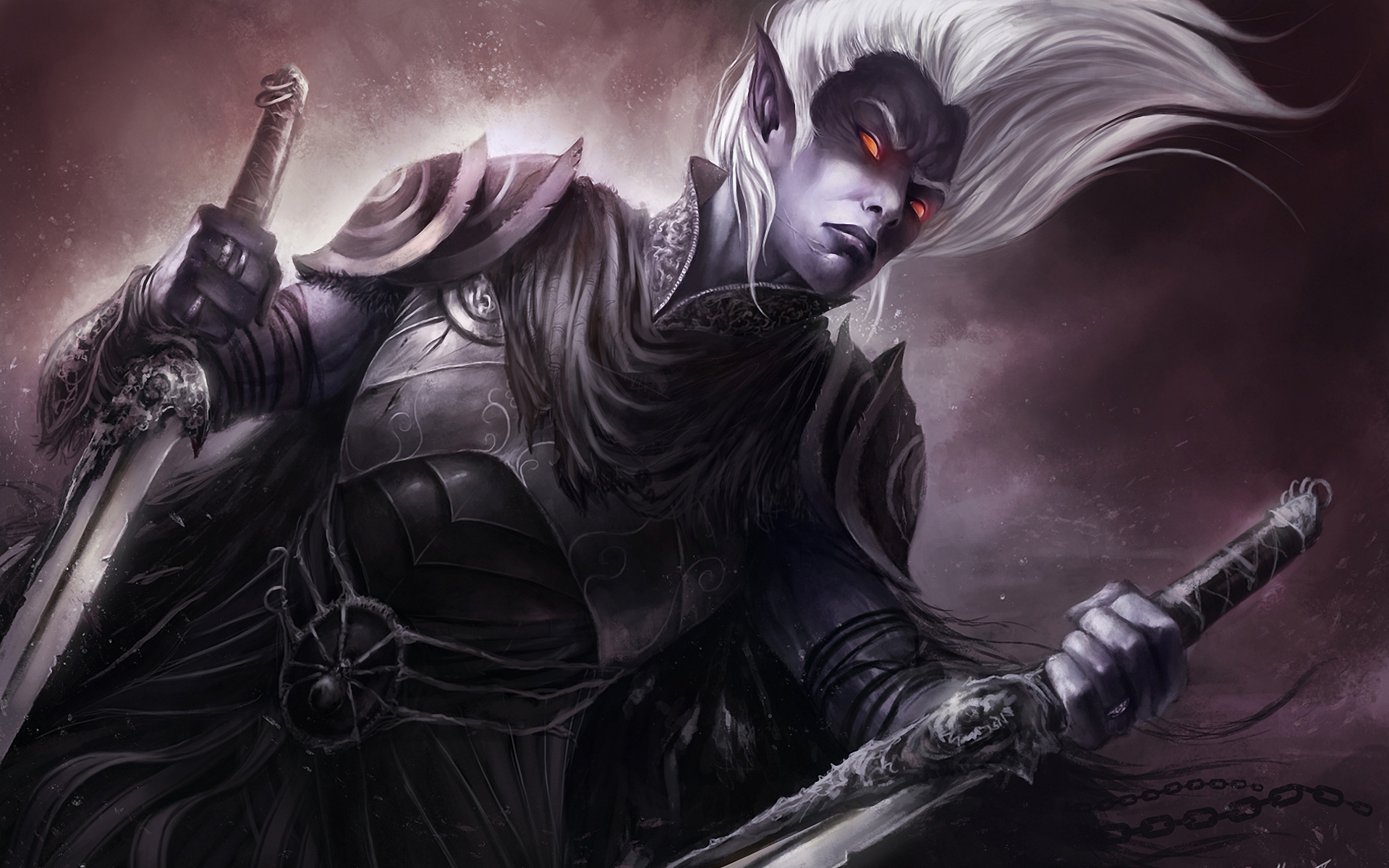 Male Drow By Michael Gauss Full HD Wallpaper And