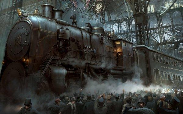 Sci Fi Steampunk Train HD Wallpaper | Background Image