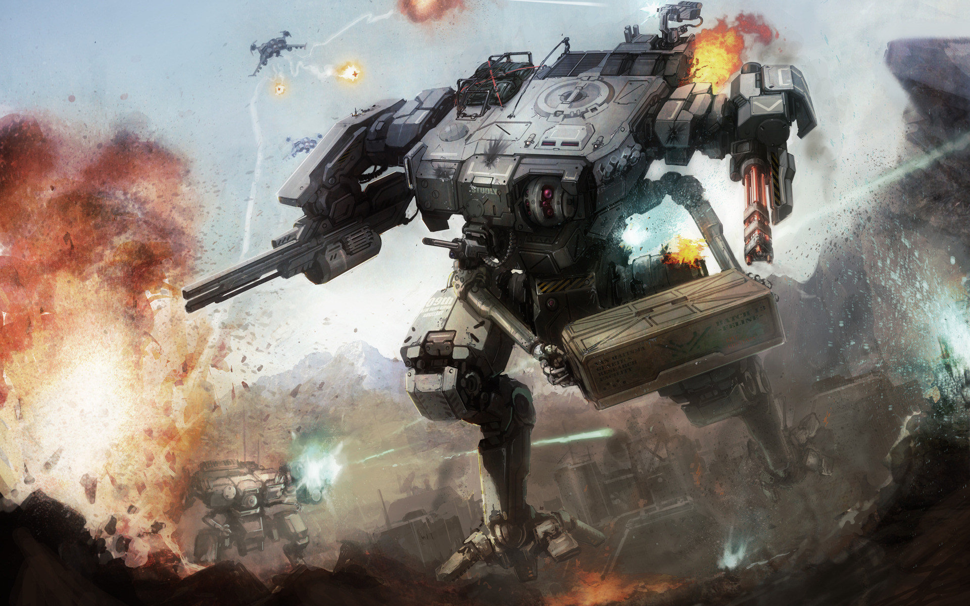 combat robot full hd wallpaper and background
