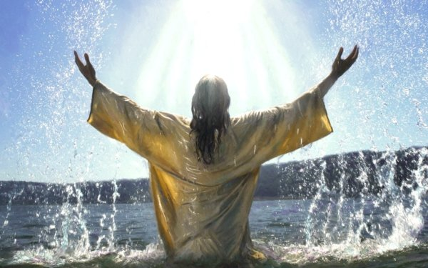 Religiös Christian Baptism Jesus God HD Wallpaper | Hintergrund