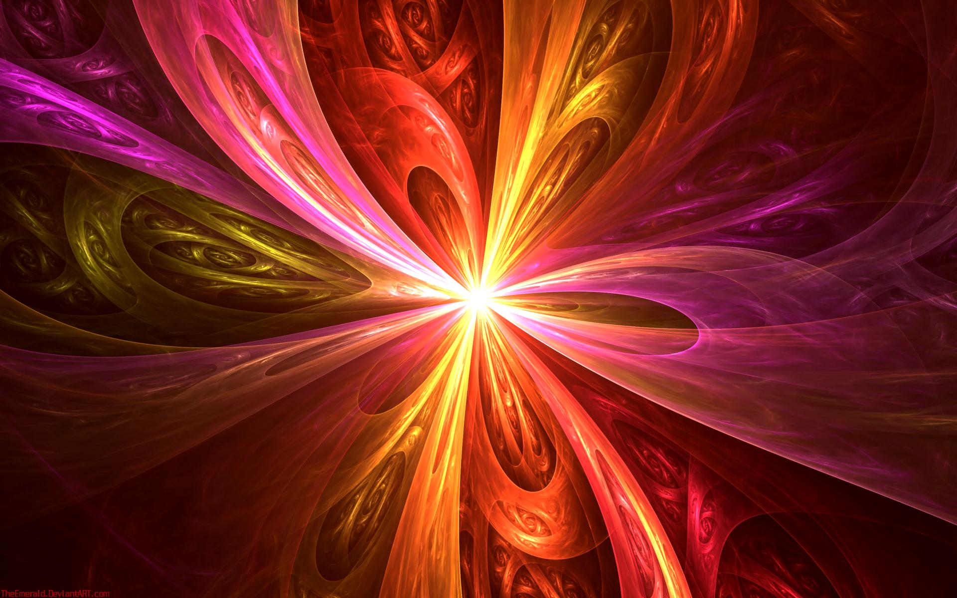 Обои свет, лучи, Цвет, фрактал, узор. Абстракции foto 2