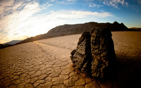 Earth Death Valley Moving Crawling Sliding Rock United States Lake HD Wallpaper | Background Image