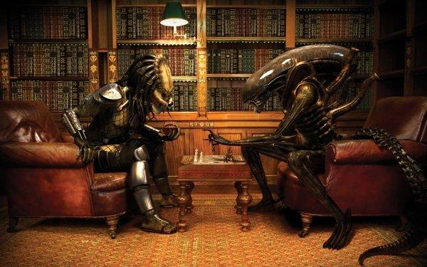 Videospel Aliens Vs. Predator Alien Schaken Predator HD Wallpaper | Achtergrond