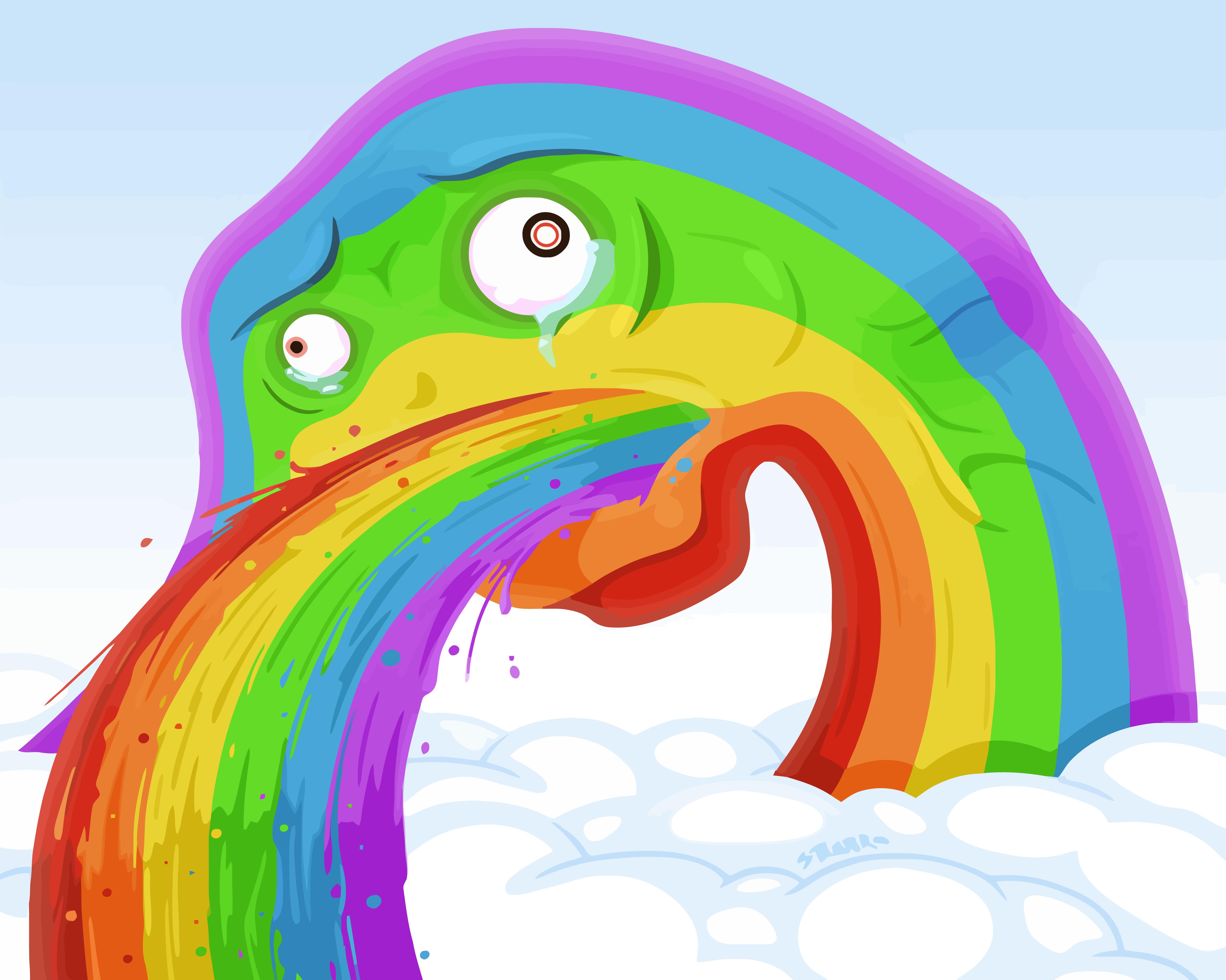 Puking Rainbows HD Wal...