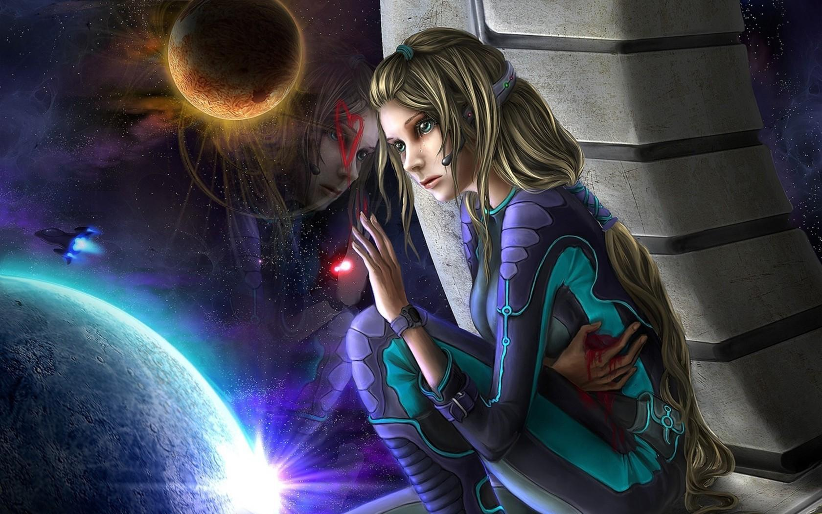 girl in space suit wallpaper - photo #11