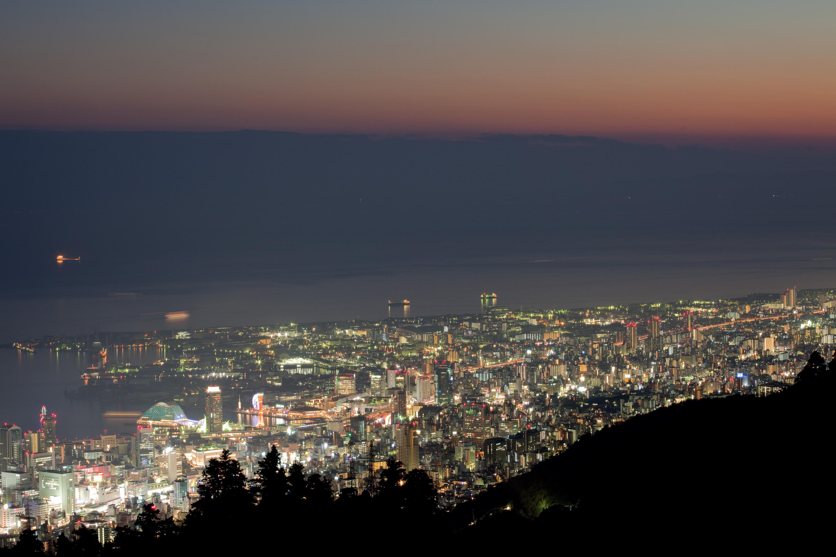 Kobe downtown at night. HD Wallpaper ...