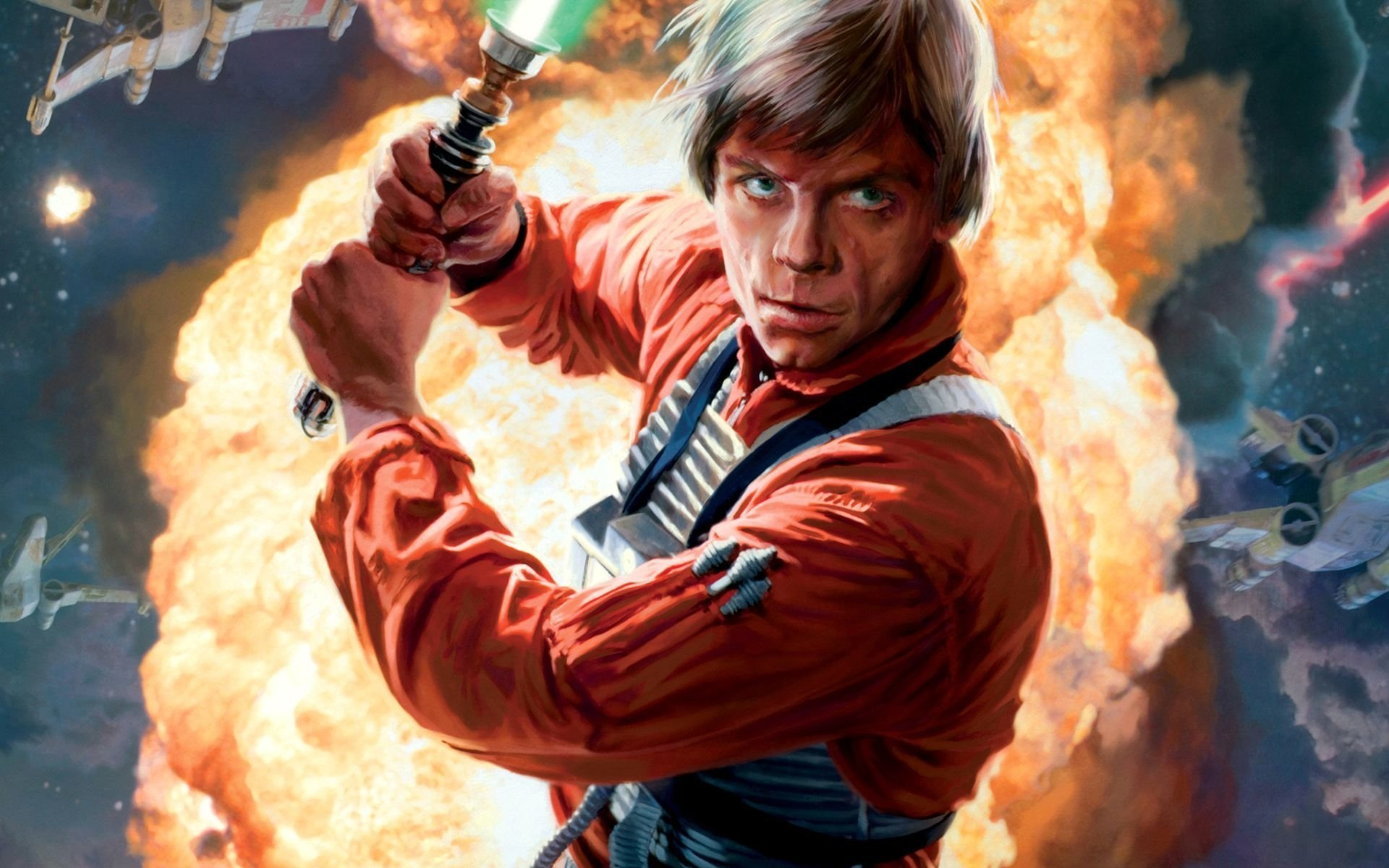 Movie - Star Wars  Luke Skywalker X-Wing Explosion Wallpaper