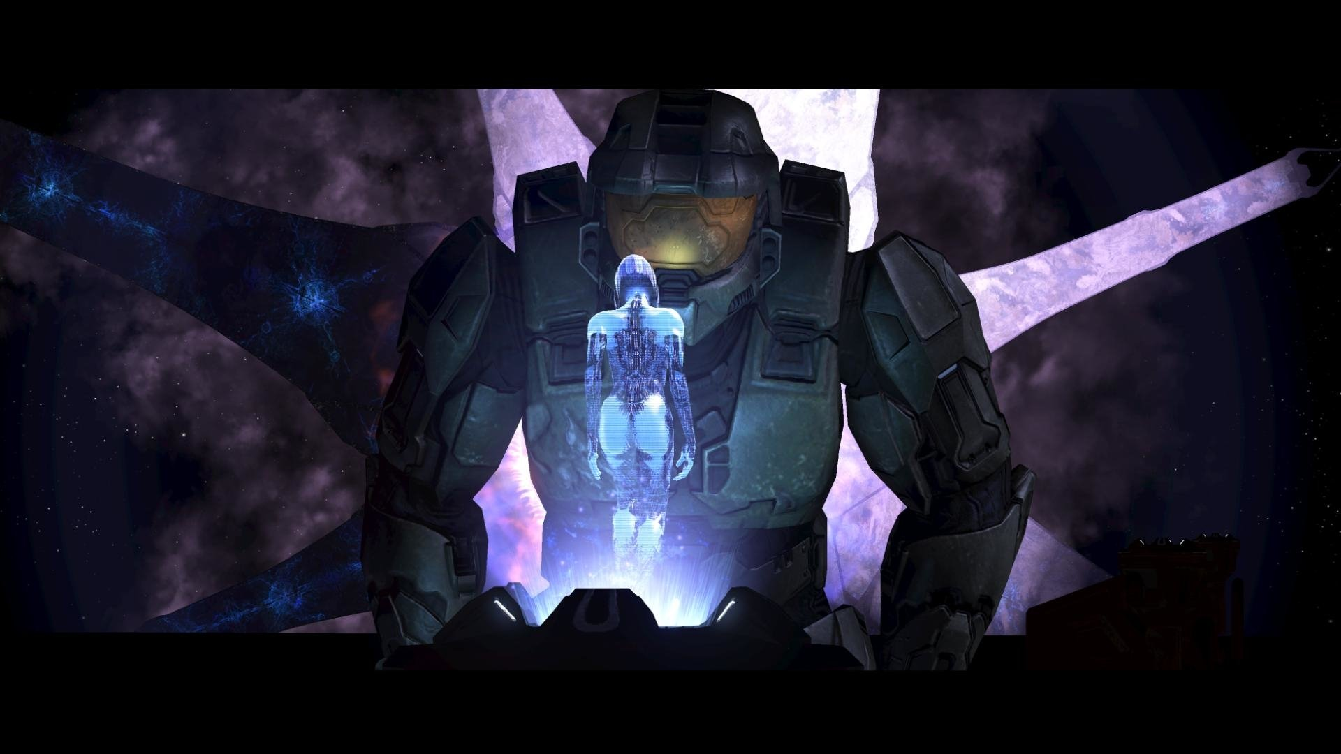 Cortana And Master Chief Hd Wallpaper Background Image