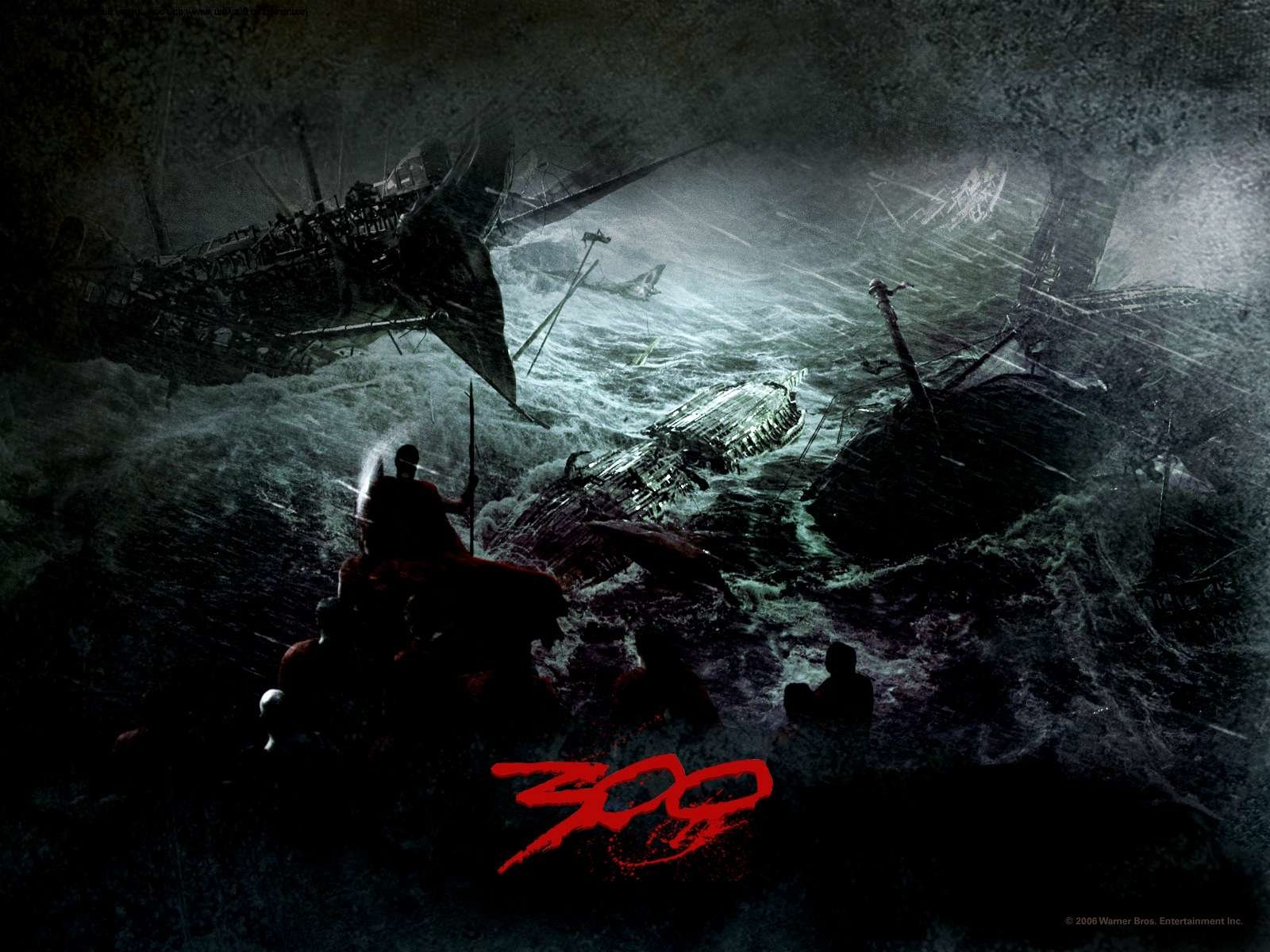 Films - 300  Strijd Oceaan Shipwreck Wallpaper