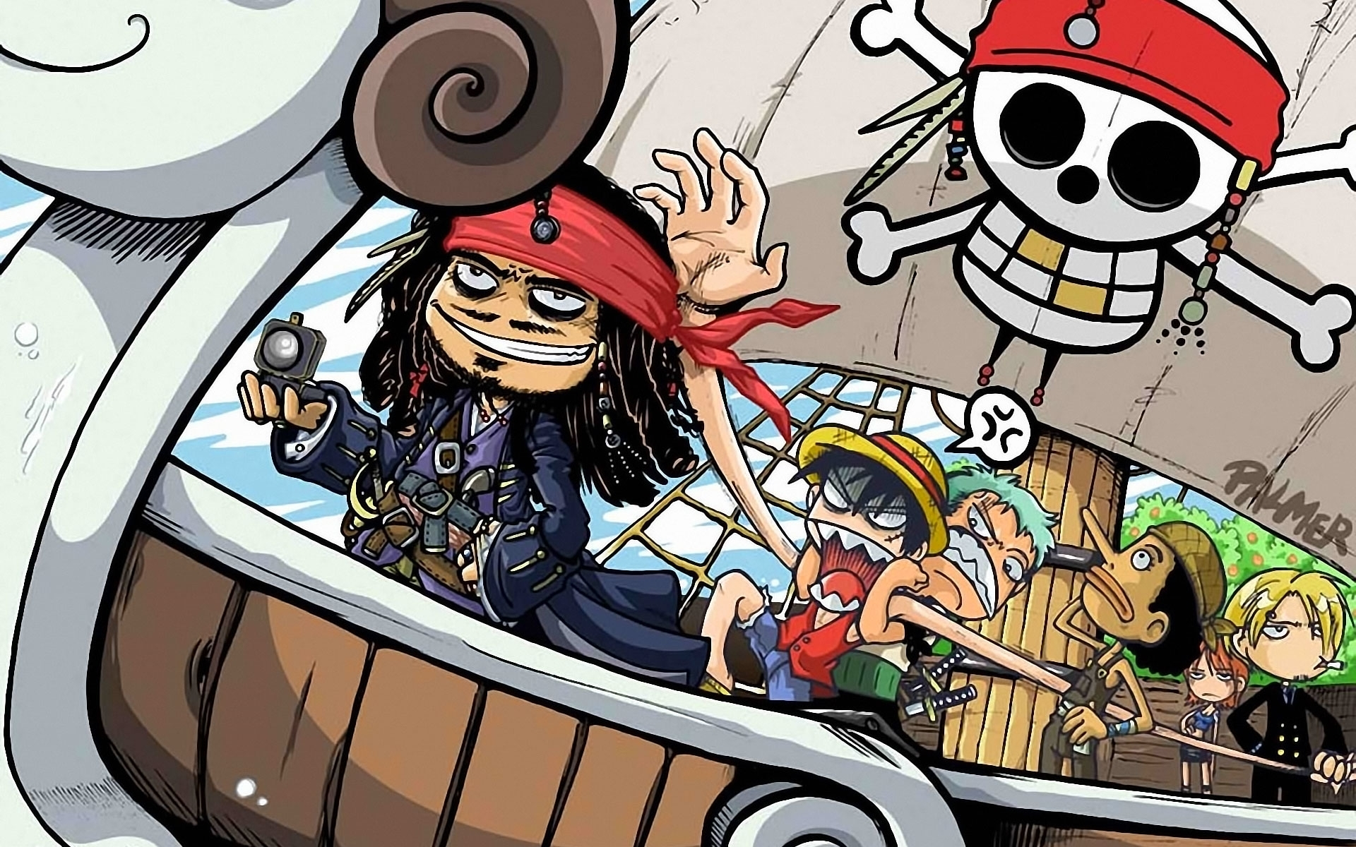 Google themes anime one piece - Anime One Piece Nami One Piece Monkey D Luffy Usopp One