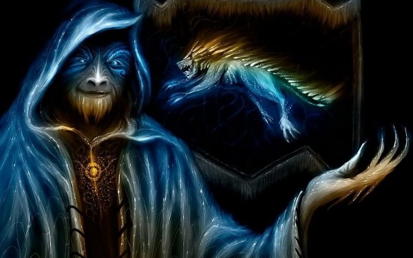 Fantasy Wizard Creature HD Wallpaper   Background Image