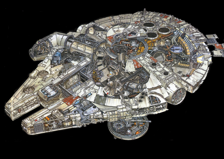 Star wars 4k ultra hd fond d 39 cran and arri re plan for Interior halcon milenario