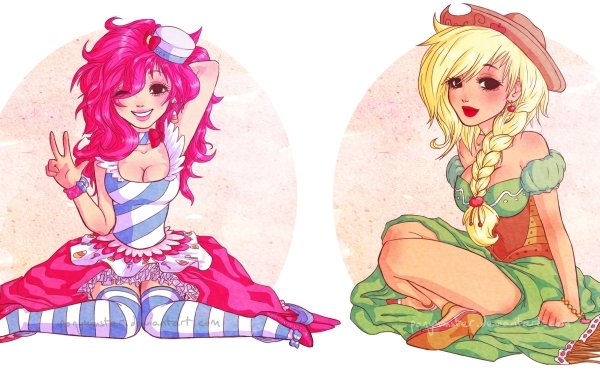 Series de Televisión My Little Pony: La magia de la amistad My Little Pony Pinkie Pie Applejack Humano Mágico Humanized Fondo de pantalla HD | Fondo de Escritorio