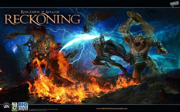 Video Game Kingdoms Of Amalur: Reckoning Kingdoms Of Amalur Fire Flame Creature Reckoning HD Wallpaper   Background Image