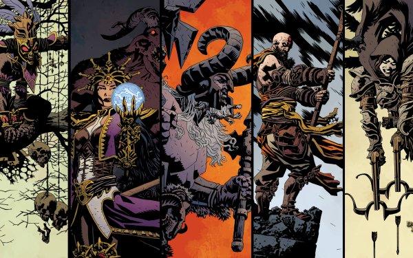 Video Game Diablo III Diablo Witch Doctor Wizard Barbarian Monk Demon Hunter HD Wallpaper | Background Image