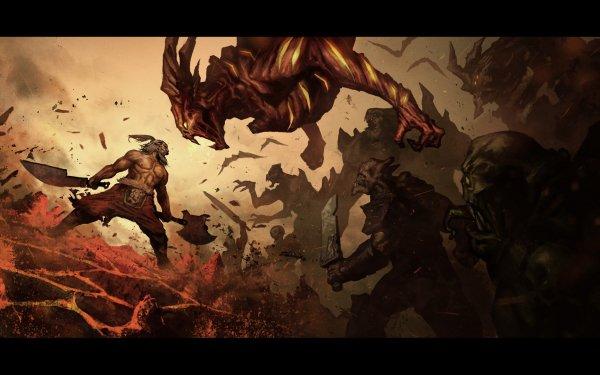 Video Game Diablo III Diablo Barbarian HD Wallpaper | Background Image