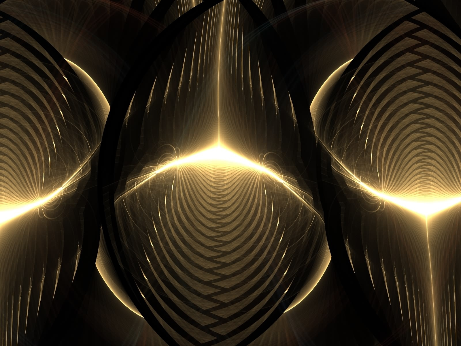 Gold Abstract W...