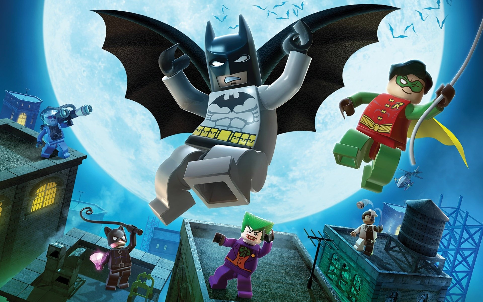 Video Game - LEGO Batman: The Videogame  Lego Batman Robin (DC Comics) Mr. Freeze (DC Comics) Joker Two-Face Catwoman Game Wallpaper