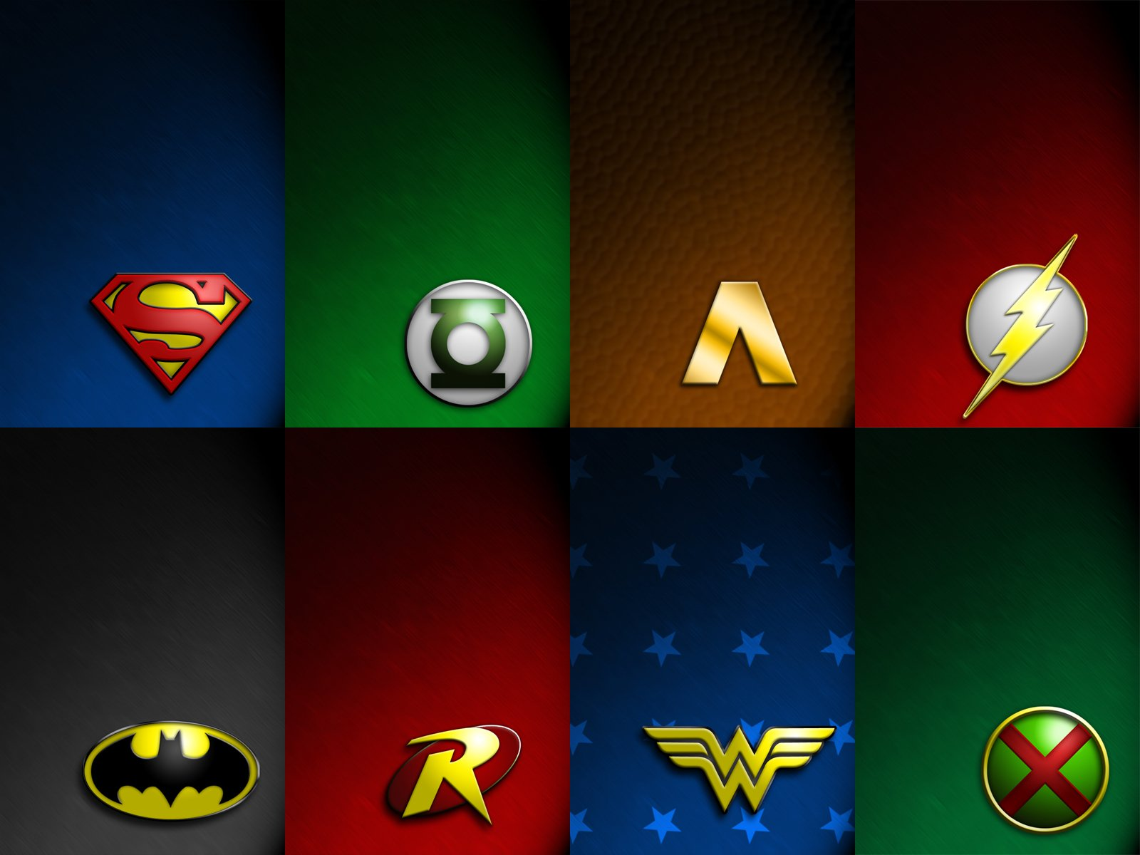 Silver Age Jla Logos Wallpaper And Background Image 1600x1200 Id