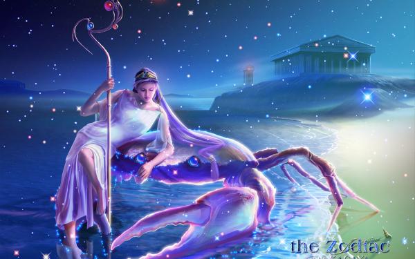 Fantasy Zodiac Crab HD Wallpaper | Background Image