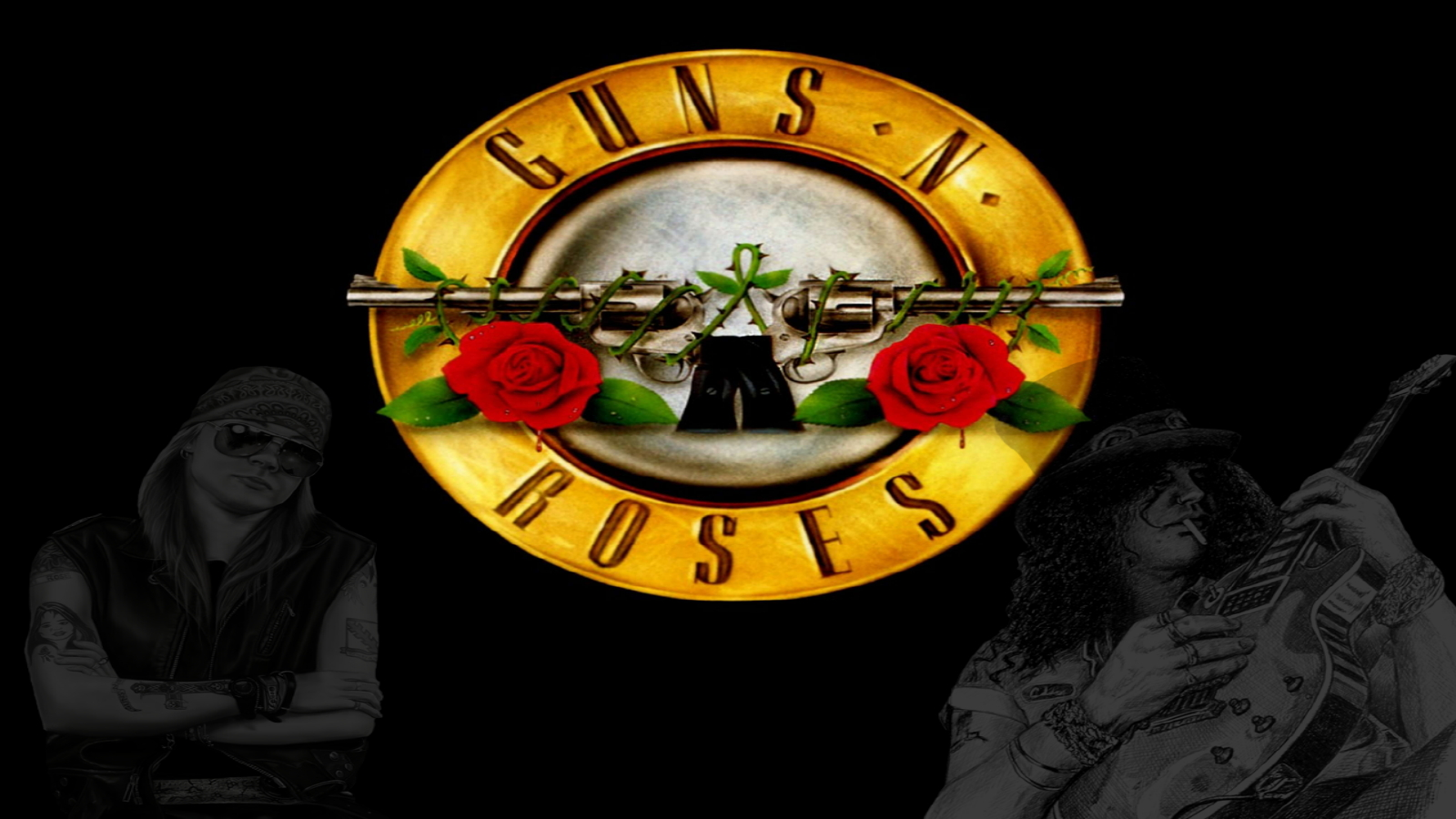 Guns & Roses Wallpaper And Background Image