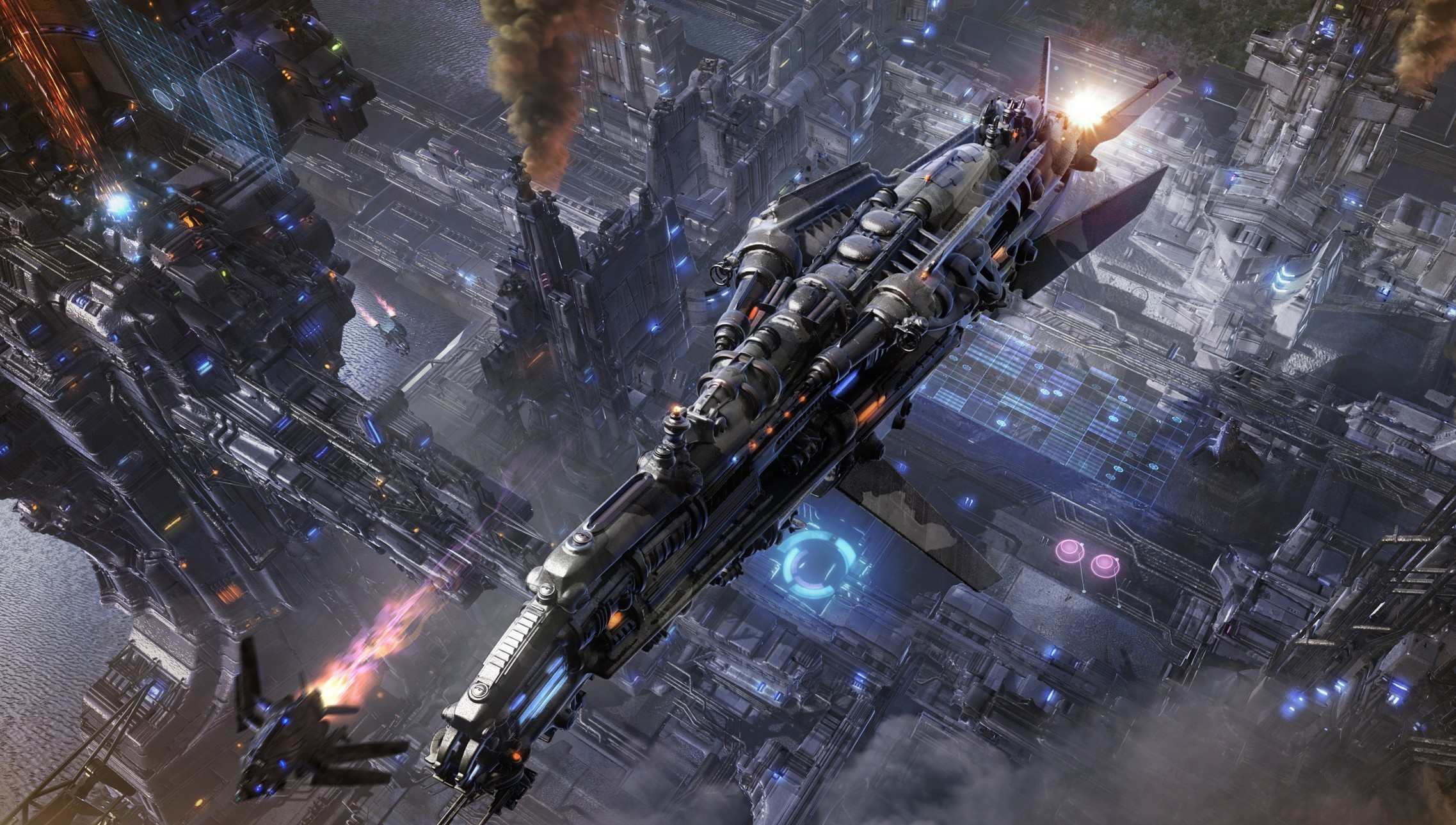 Spaceship full hd wallpaper and background image for Sci fi background