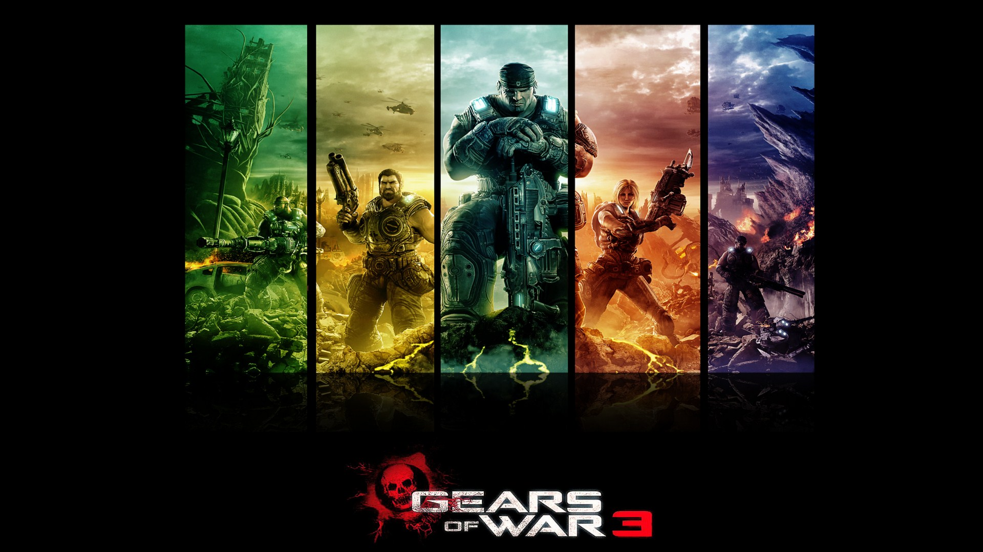 gears of war 3 full hd wallpaper and background image | 1920x1080