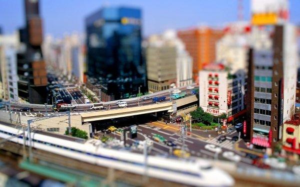 Man Made City Cities Tilt Shift HD Wallpaper | Background Image
