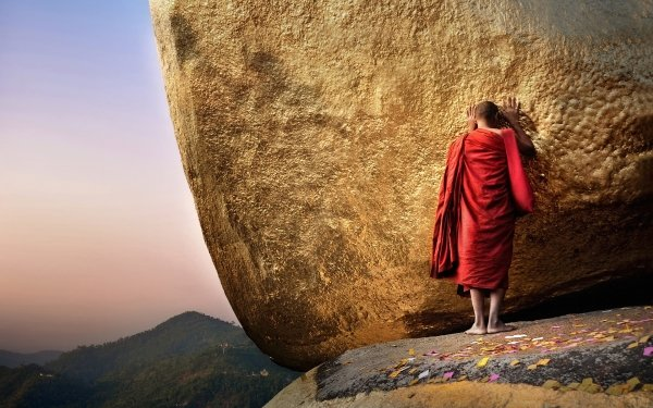 Religious Monk Buddhist HD Wallpaper   Background Image