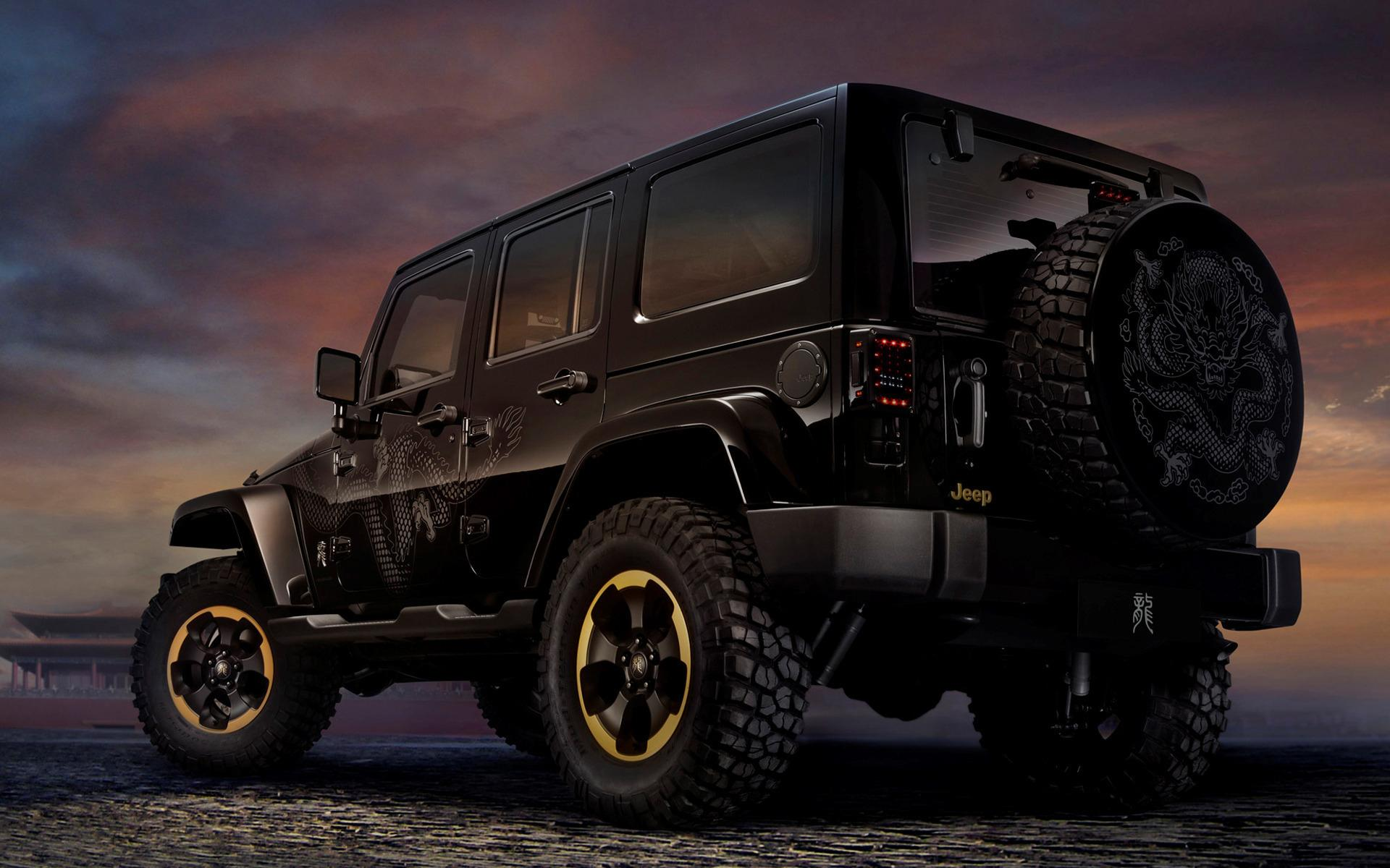 jeep wrangler-dragon design hd wallpaper | background image