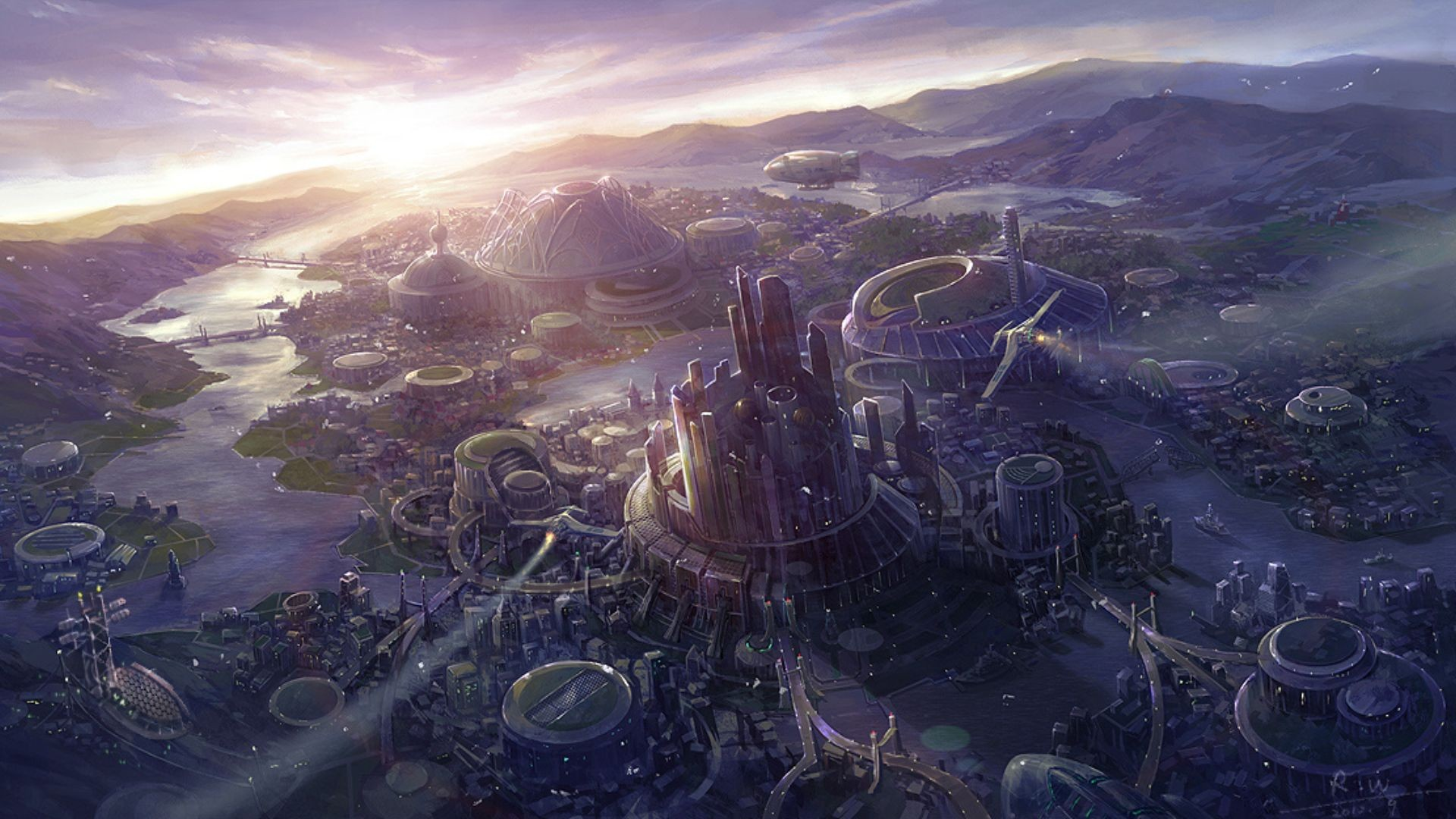 World Wallpaper Sci Fi Wallpaper: Landscape Full HD Wallpaper And Background Image