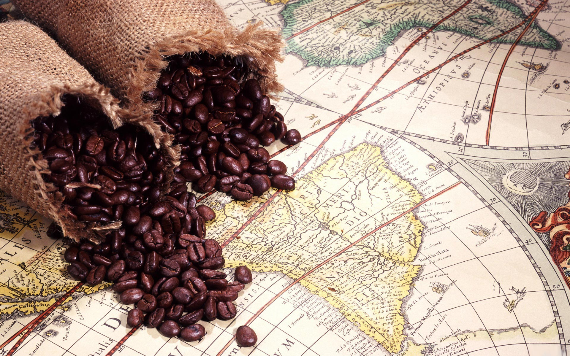 Coffee Beans Desktop Background brazil coffee beans full hd wallpaper and background | 1920x1200