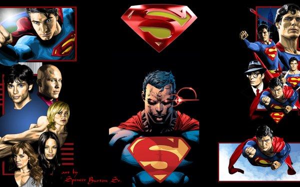 Comics Superman Superhero Smallville Lois Lane Clark Kent Chloe Sullivan Lex Luthor Lana Lang DC Comics Superman Logo HD Wallpaper | Background Image