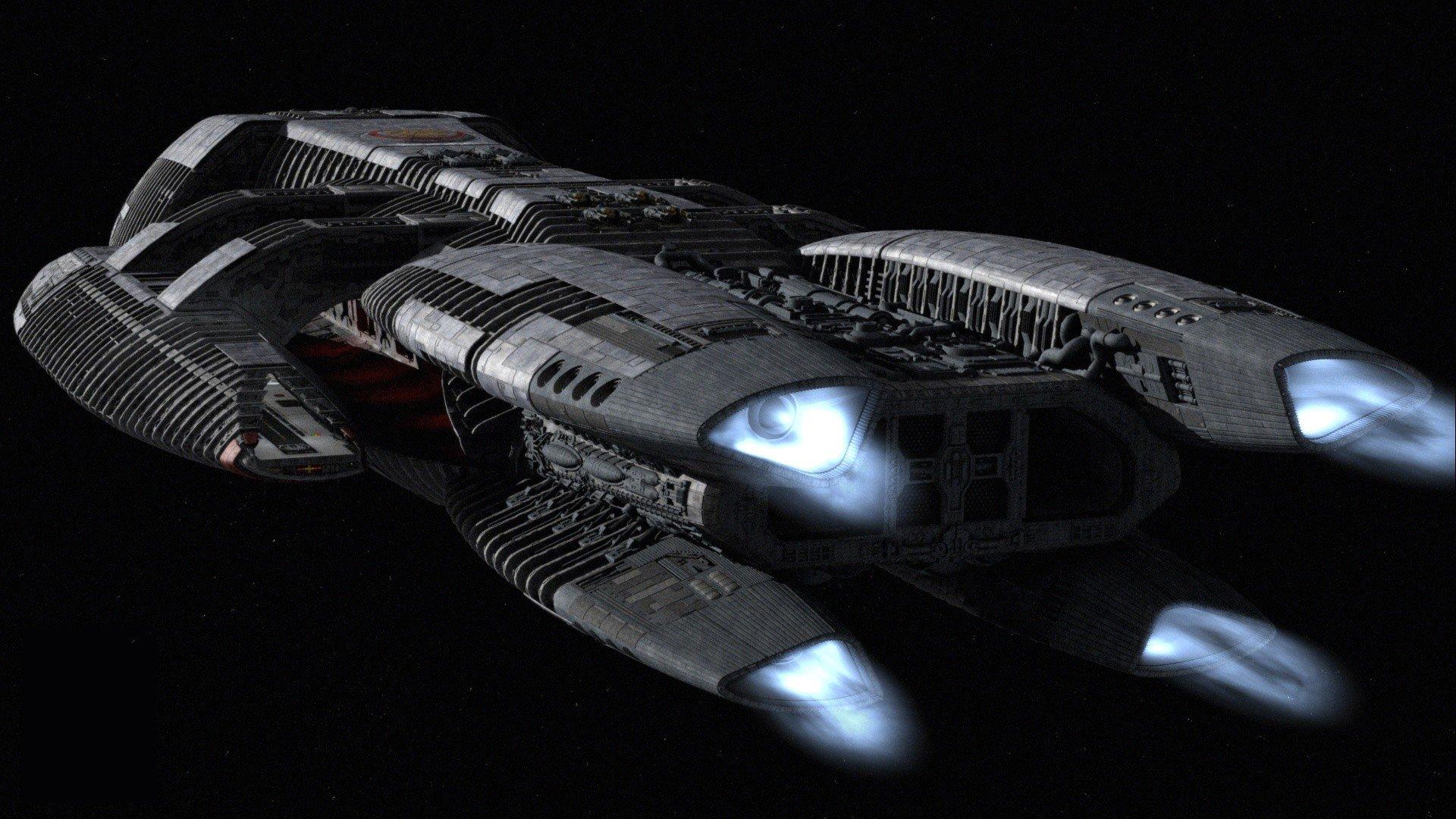 Televisieprogramma - Battlestar Galactica (2003)  Battlestar Galactica Ruimteschip Wallpaper