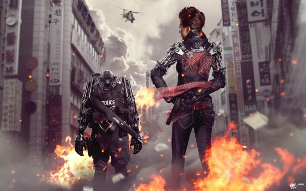 Photography Manipulation Sci Fi Robot Mecha Warrior Cyborg HD Wallpaper | Background Image