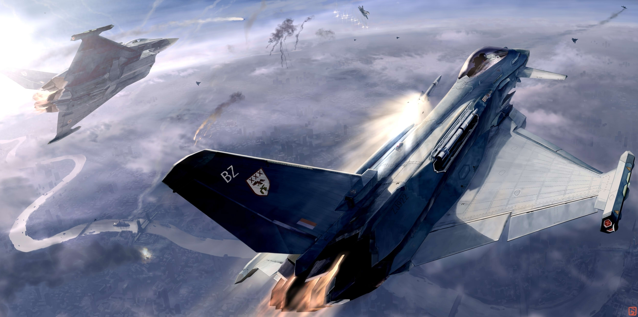 Ace Combat HD Wallpaper   Background Image   2621x1303 ...