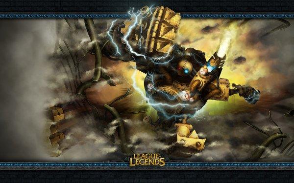 Videojuego League Of Legends Blitzcrank Robot Machine Steampunk Fondo de pantalla HD | Fondo de Escritorio