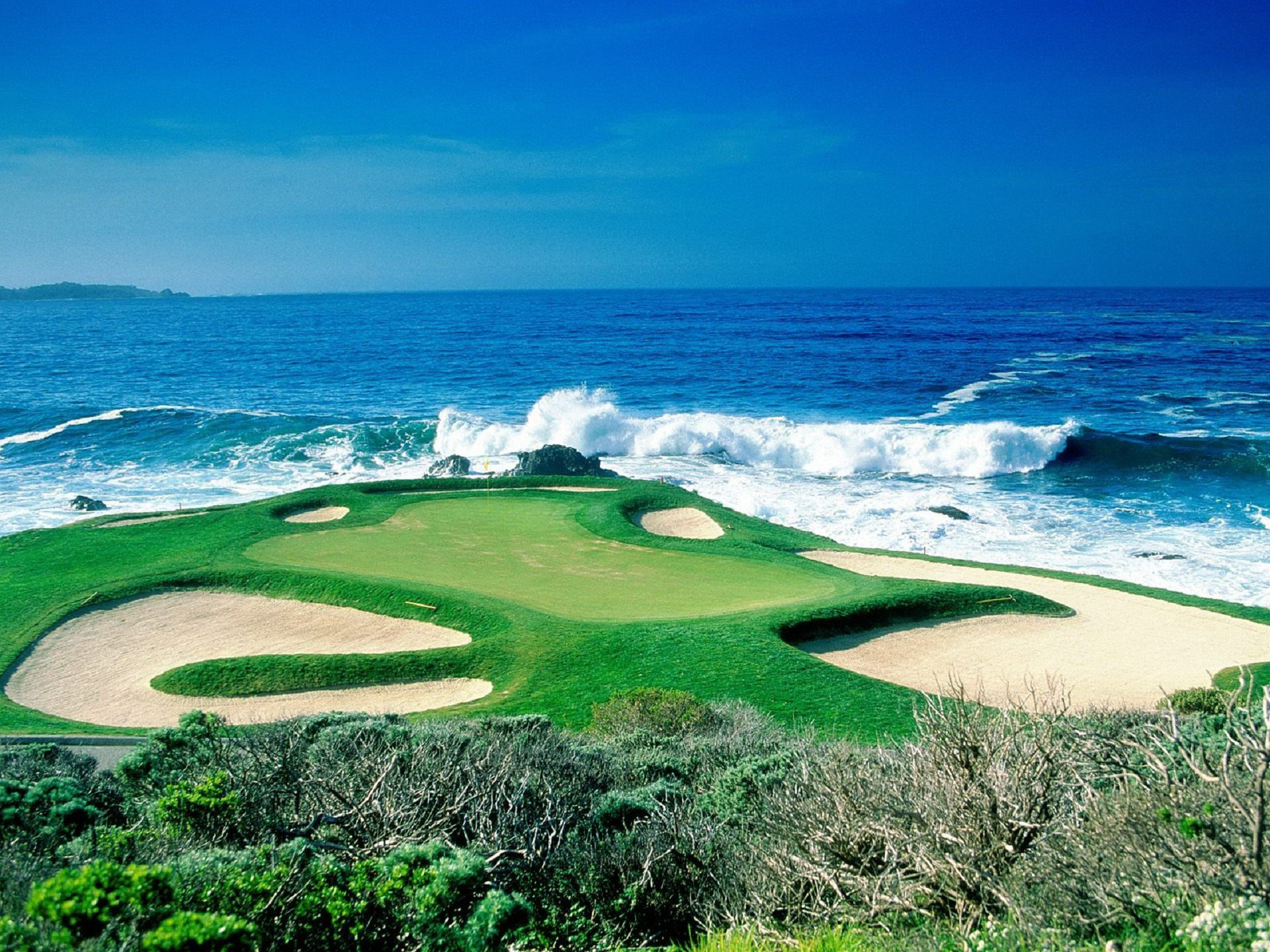 Pebble Beach Golf Links CA United States Full HD Wallpaper And