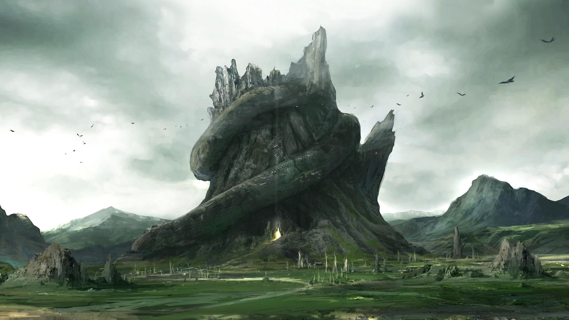 Httpartcobainiantartartsnake mountain 217056089 full hd fantasy castle landscape mountain city sky cloud wallpaper voltagebd Image collections