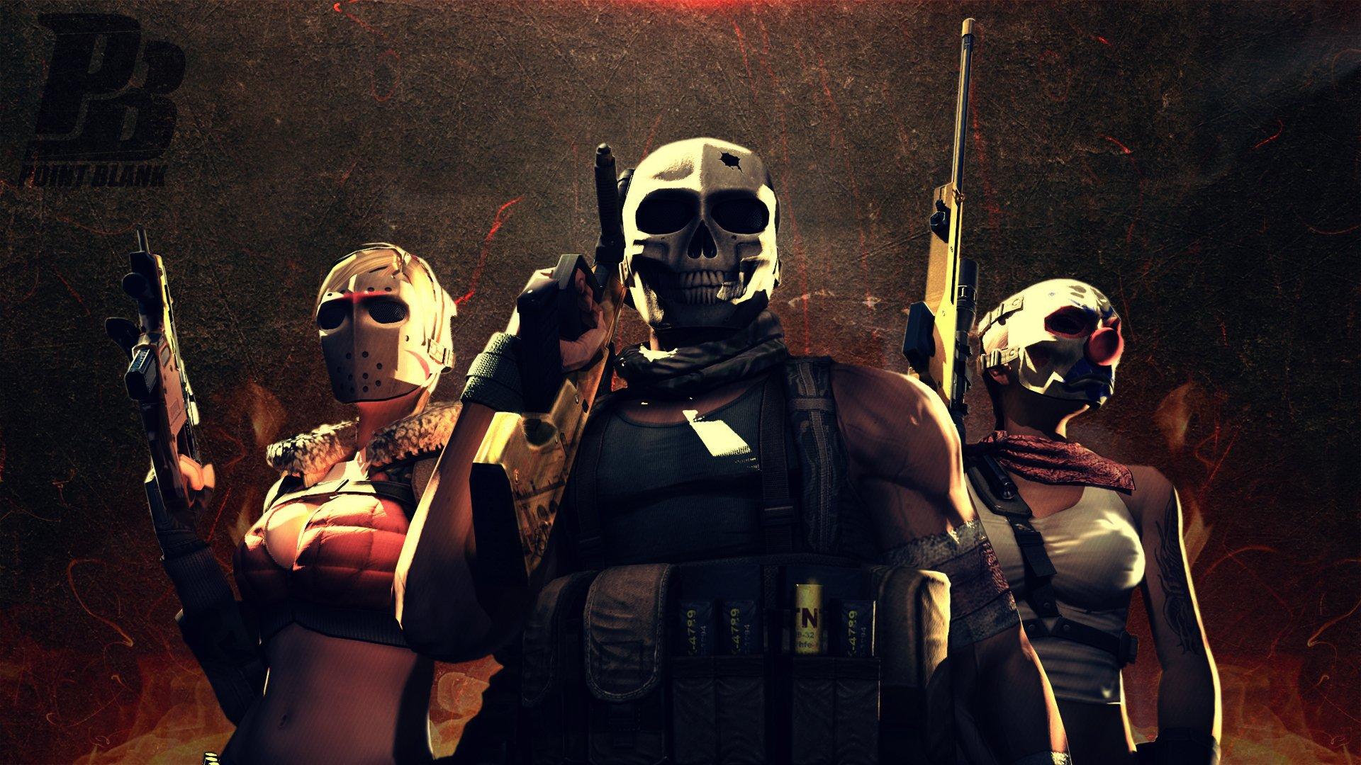 Video Game - Point Blank  Warrior Weapon Gun Machine Gun Mask Soldier Wallpaper