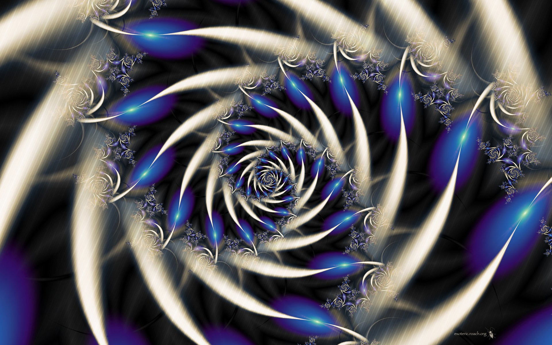 Pattern - Abstract  Digital Fractal Artistic Wallpaper